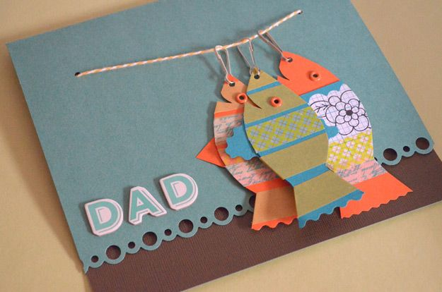 Creative DIY Father's Day Card Projects | Fishy Father's Day Card Idea by DIY Ready at http://diyready.com/21-diy-fathers-day-cards/