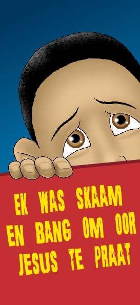 """Handelinge 1:8 """"Die Heilige Gees sal jou sterk en dapper maak. Hy sal jou help om oor My te praat."""" Jesus is wonderlik! Bestel #CLF se GRATIS pamflette by https://www.clf.co.za/ of epos order@clf.co.za & laat dit jou help om oor Jesus te praat. #pamphletministry #shy #children"""