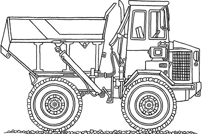 Chuck The Dump Truck Truck Car Coloring Pages Truck
