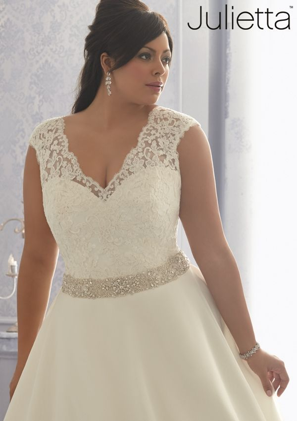 Wedding Gowns By Julietta featuring 3166 Embroidered Lace on an ...