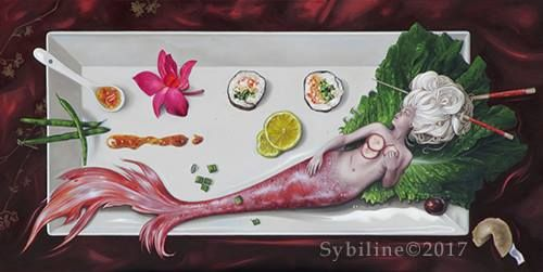 Sybiline oil painting
