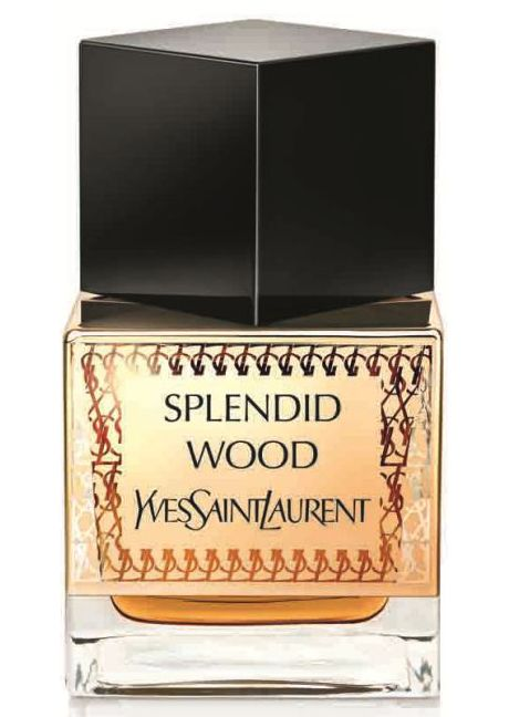 Splendid Wood Yves Saint Laurent perfume - a new fragrance for women and men 2014.  The woody composition in which the main role is played by several types of wood from the Middle East along with oud and cedar is spiced with cardamom and thyme. Gentle and elegant sambac jasmine petals provide a fine layer which cools the woody-spicy character, accompanied with cypriol bestowing characteristic woody-earthy shades.