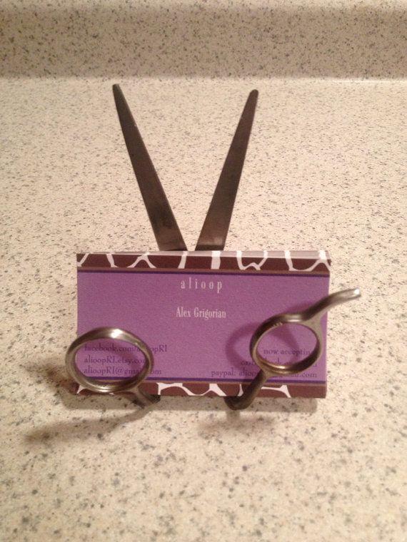 Custom Upcycled Scissor Business Card Holder  by AffaDotDesigns, $30.00