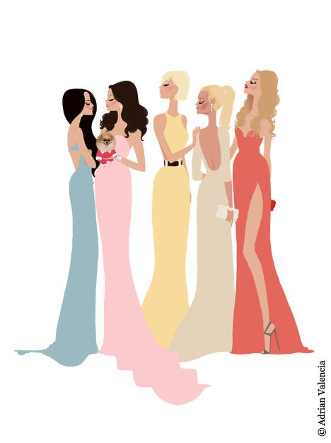 Real Housewives of Beverly Hills by Adrian Valencia.  Kyle richards, Lisa Vanderpump, Yolanda Foster, Kim Richards, Brandi Glanville