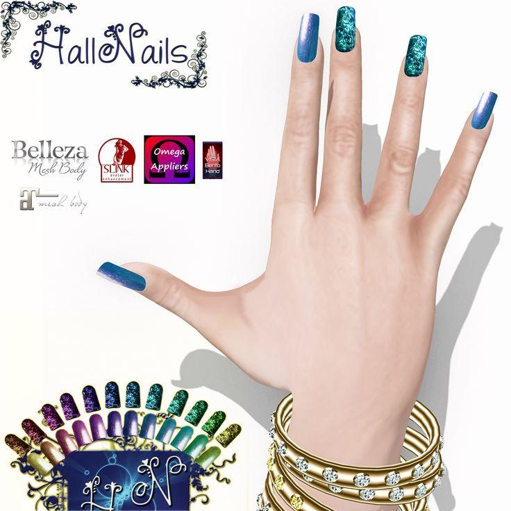 https://flic.kr/p/22ap1oo | HallNaisl for Event -Crazy-Fashion | HalleNail Glitter - exclusive for Event Crazy -  maps.secondlife.com/secondlife/SCACCOMATTO/95/161/1803