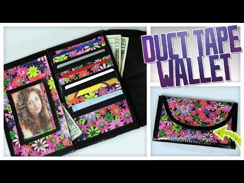 Duct Tape Wallet Clutch - Do It, Gurl - YouTube Really fun to make, it is hard at first but once you get the hang of it it is really easy.