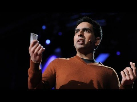 """Salman Khan talks about how and why he created the remarkable Khan Academy, a carefully structured series of educational videos offering complete curricula in math and, now, other subjects. He shows the power of interactive exercises and calls for teachers to consider flipping the traditional classroom script -- give students video lectures to watch at home and do """"homework"""" in the classroom with the teacher available to help."""