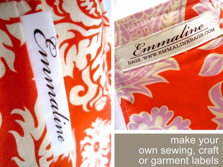 17 best ideas about sewing labels on pinterest fabric for Sew in craft labels