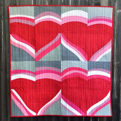 Improv valentine wall quilt tutorial by erica jackman at for Kitchen quilting ideas