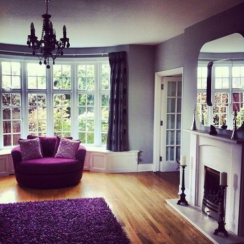 Room Reveal Purple And Grey Living Room: 82 Best Home // Purple Rooms Images On Pinterest