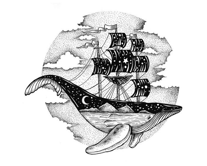 Surrealism: Ship and Whale