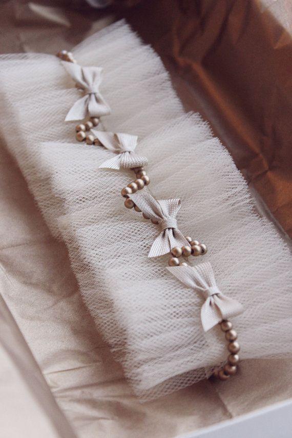 Vintage Garter Ribbons Wedding Ivory Lace Set Perls