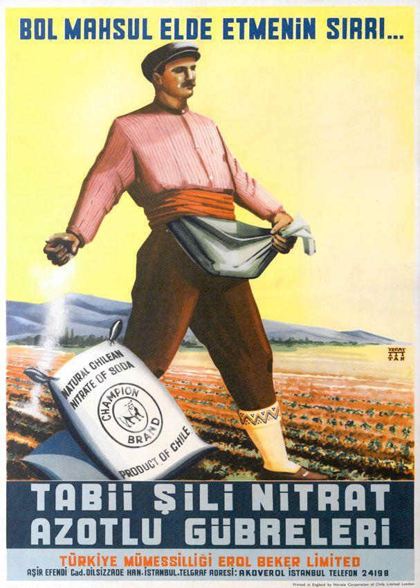 Campaña publicitaria del salitre natural: Turquía (1949)