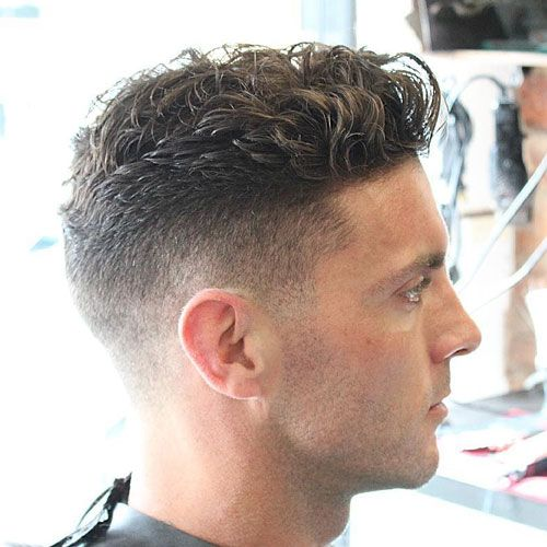 High Taper Fade with Wavy Top
