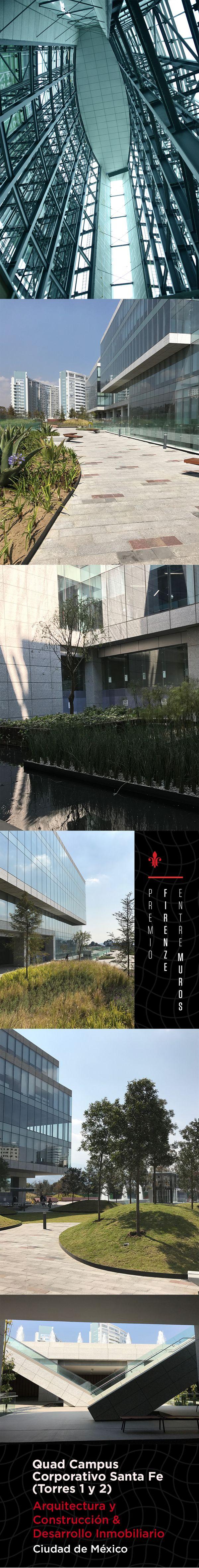Este imponente desarrollo se compone de cinco edificios de oficinas, cuatro de ellos ordenados alrededor de una plaza central con un espejo de agua. Cuenta con más de 15 mil metros cuadrados de áreas verdes.