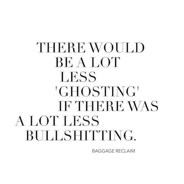 I recently delved into the topic of 'ghosting', which is when someone who you've had an intimate relationship with disappears. But of course disappearing isn't limited to 'full-on' relationships: ghosting is something that many people have experienced with dating plus it happens with frien…