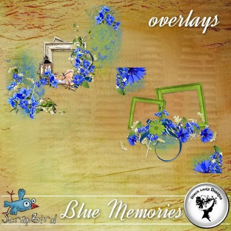 Blue Memories - Overlays - by Black Lady Designs