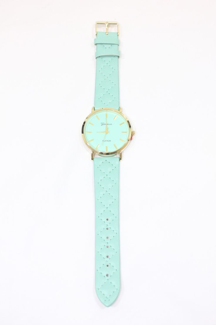 Quilted Leather Band Watch