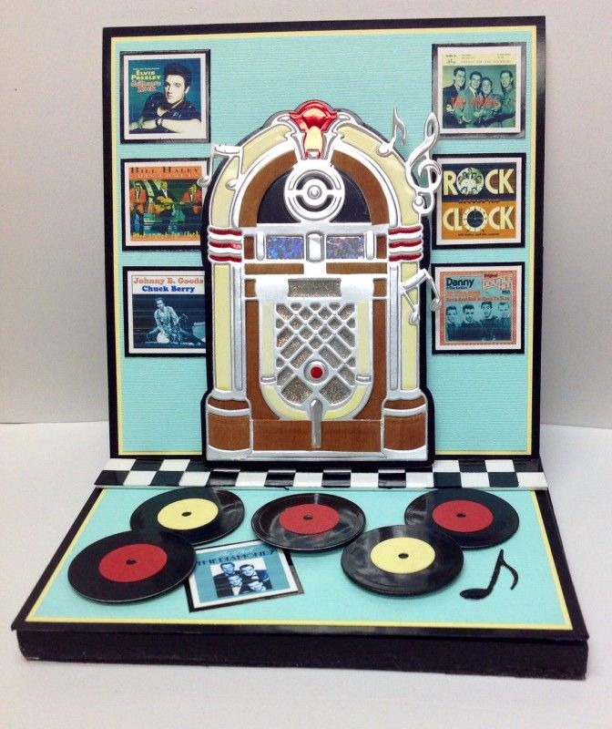 50's Musical Jukebox by Colorin' Kate - Cards and Paper Crafts at Splitcoaststampers