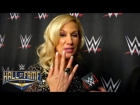 Alundra Blayze reacts after her WWE Hall of Fame induction speech: March 28, 2015 - YouTube