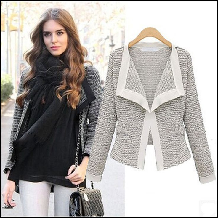 Charlee Cooper Long Sleeved Linen Knitted Wool Cardigan Jacket