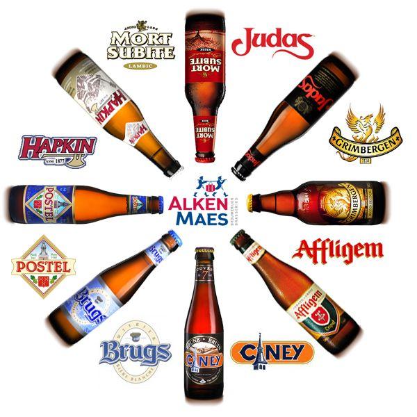 Alken-Maes est une brasserie belge créée en 1988 de la fusion de deux petites brasseries. Vous retrouvez entre autre Judas, Hapkin, Affligem, Postel, Ciney, Mort Subite et la plus connue d'entre elles la Girmbergen ! http://www.alken-maes.be/