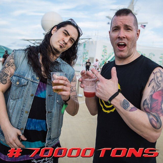Ah, Sundays - a day for relaxation! except on board 70000TONS OF METAL! How did you spend your last day and night on board this year!? #70000tons #MetalCruise #70000tons2016 #70000tonsofmetal #Metalheads #Annihilator #JeffWaters #supermetalsunday