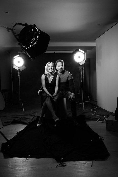 David Duchovny and Gillian Anderson photoshoot by Mark Mann