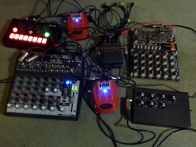 A power electronics/noise configuration