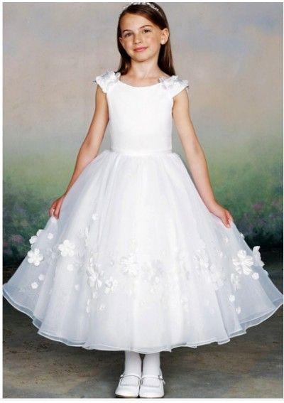Wedding dress online shop - 2015 hot cute skirt scoop neck length limit flower girl dress in long dresses