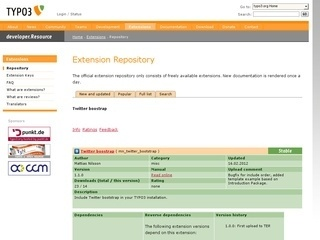 TYPO3 extension Bootstrap