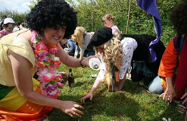 A calendar of Britain's most crazy but time-honoured festivals and events,   from worm charming to dishcloth throwing.