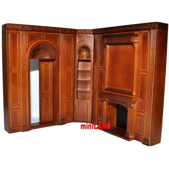 "6.9/""W 9106WN dollhouse miniature 1:12 MIMI/'S WORKING CLOCK PANEL MANOR UNIT"