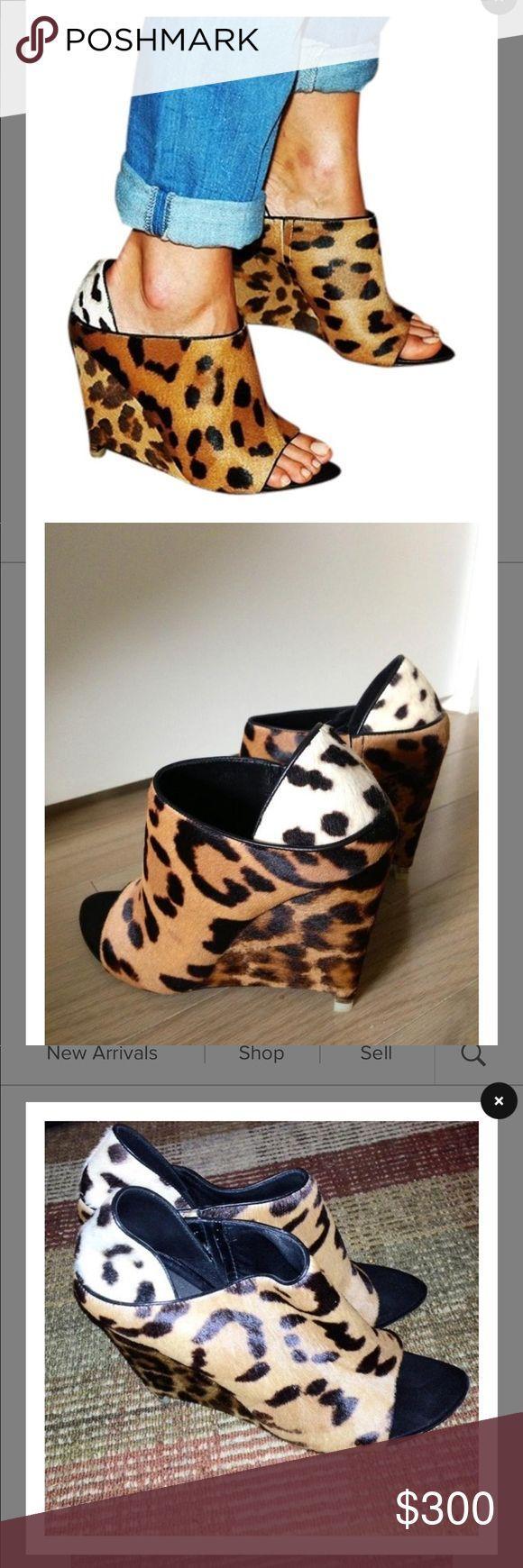 Alexander wang animal print peep toe wedge – My Shoe Addiction