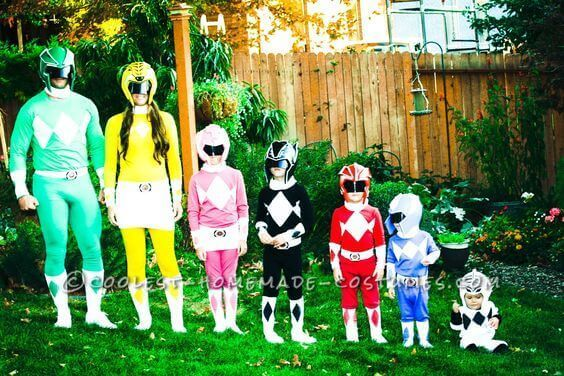 This DIY guide to making Power Rangers costumes is perfect for superheroes of all ages.