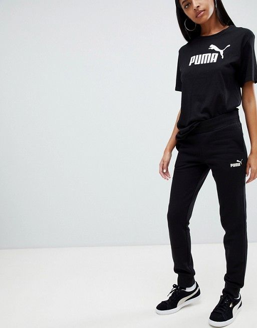 b73ed12f1de3 Puma Essentials Black Sweat Pants in 2019