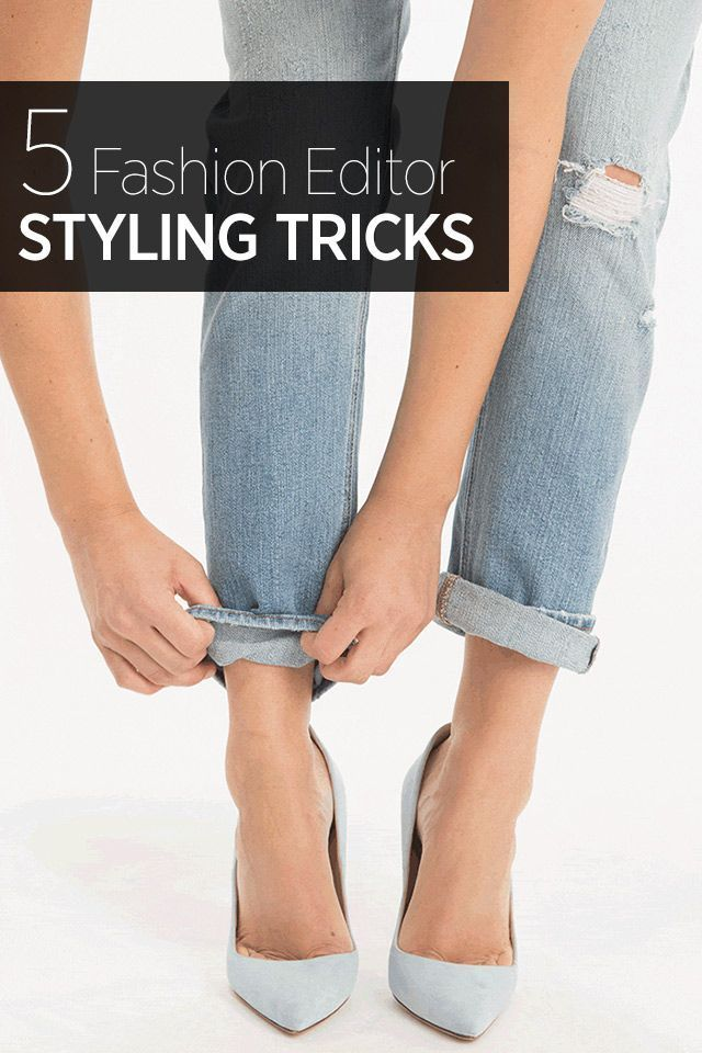 Simple tricks to elevate your outfit—from rolling your jeans for the perfect cuff to the best way to tuck in your button down shirt.