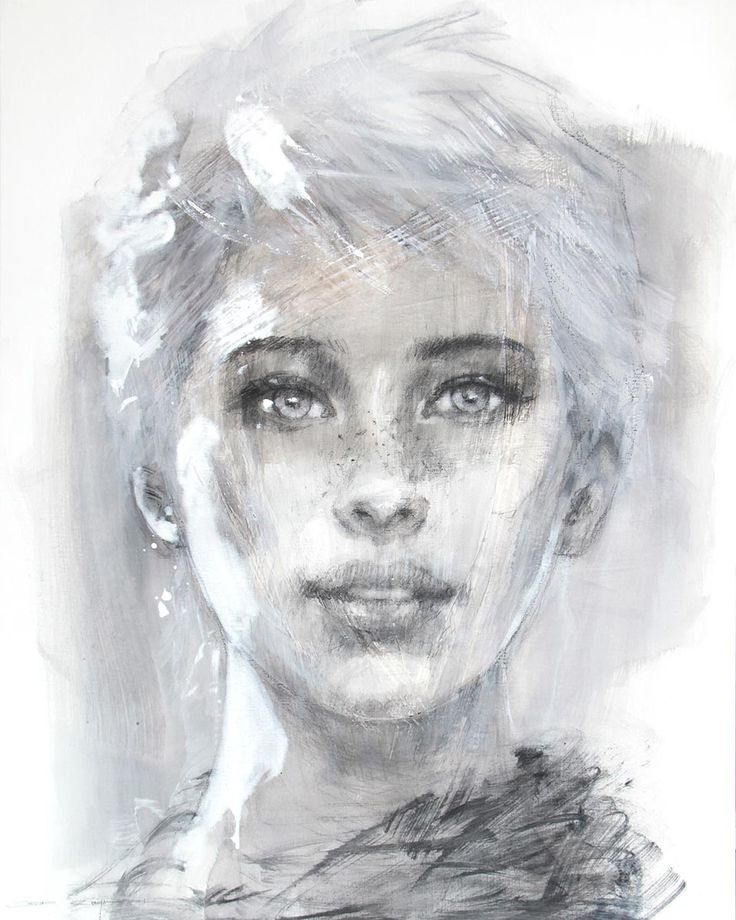 """""""Aïste"""" by Christine Comyn - Acrylics and watercolour - Absolute Art Gallery"""