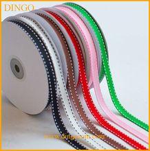 custom logo high quality silk satin print ribbon for gift