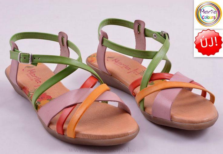 Marila szandál vidám színeivel, mosolyt csal mindenki arcára :)   http://valentinacipo.hu/marila/noi/metal/szandal/146693840  #Marila #Spanyol_szandál #Valentina_cipőboltok