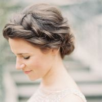 Crown Braid Wedding Hairstyles for Long Hair | Braid Wedding Hairstyles for Medium Hair