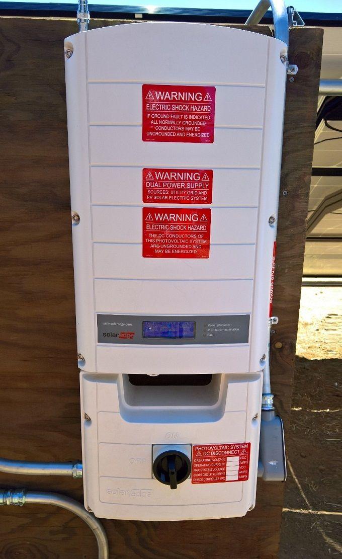 A SolarEdge Inverter - ( Solar, panels, Vacaville, California, HVAC, Solano, Napa,, Fairfield, Benicia, Vallejo, Suisun, Green, Energy