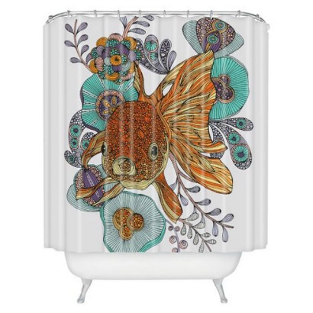 These Unique Shower Curtains from Top Designers Steal the Show: Fish Shower Curtain