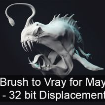 Tutorial: ZBrush to Vray for Maya – 32 bit Displacement Map