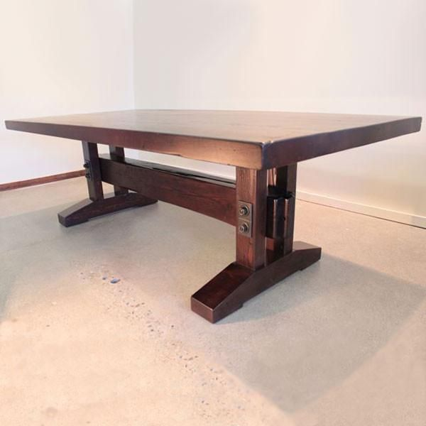 Wide Plank Pine Industrial Trestle Dining Table – The Urban Settler
