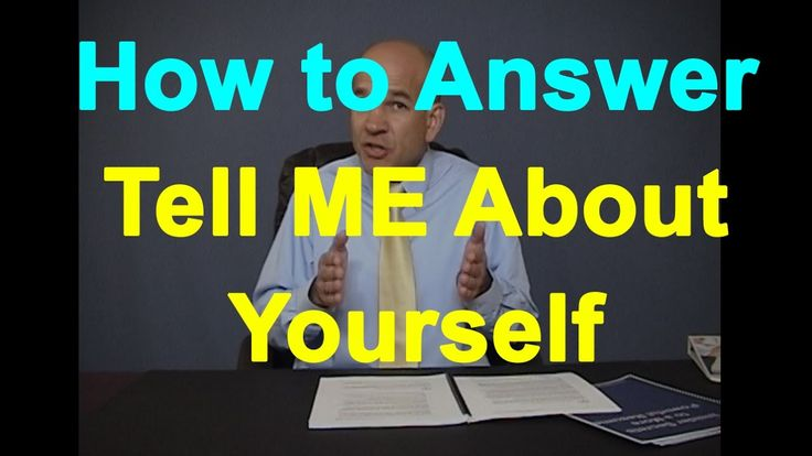 """Good Interview Answer to """"Tell me about yourself"""" YouTube Top Pick"""