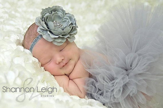 Sweet Gray Mist Tutu Gray Newborn Tutu by ASweetSweetBoutique, $45.00