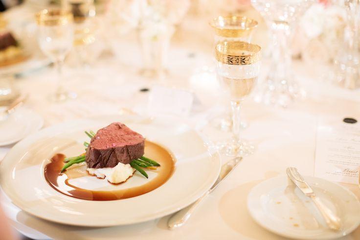 Roasted Angus Beef Tenderloin |  potato puree, roasted baby vegetables, bordelaise