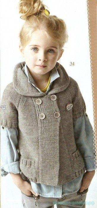 Вязание спицами для детей с описанием Описание вязания жакета спицами для девочки