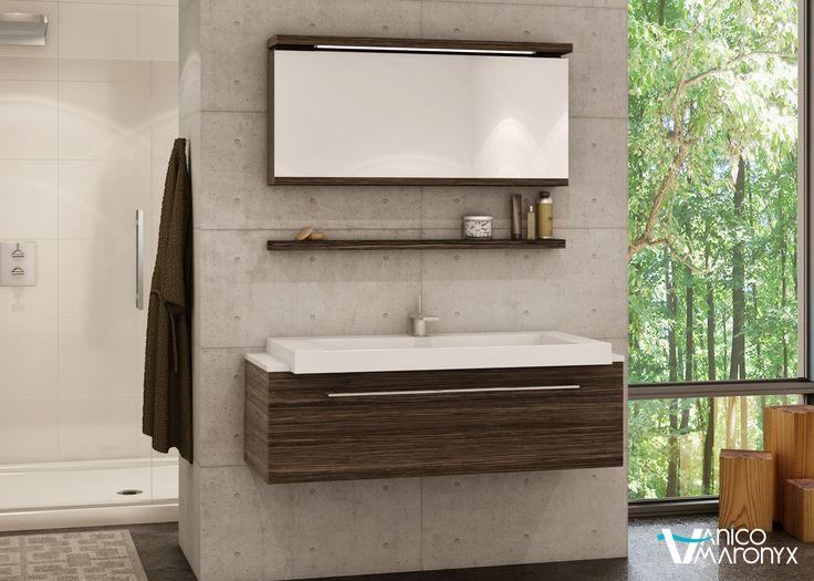 Mobilier de salle de bain U de la SÉRIE MIX - VANICO MARONYX. Disponible chez Montréal - Les - Bains